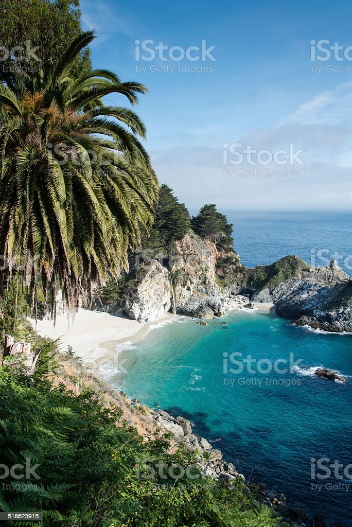 McWay falls Big Sur California stock photo