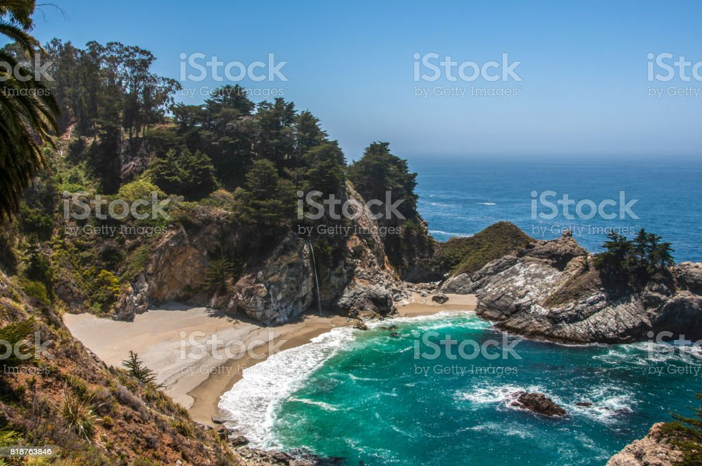 McWay Falls, Big Sur, Monterey County, CA, United States stock photo