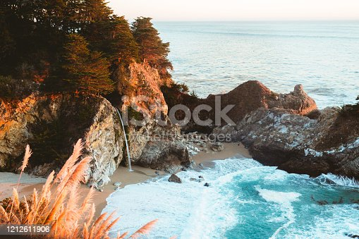 McWay Falls in Big Sur at Sunset