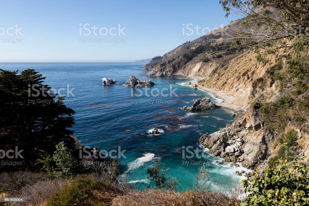 McWay Falls, Julia Pfeiffer Burns State Park, Big Sur, California, USA stock photo