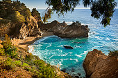 McWay waterfall inlet at Big Sur overlook in Julia Pfeiffer Burns State Park in California