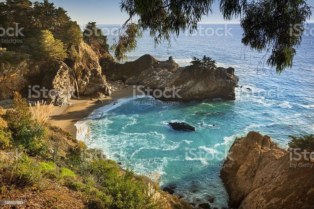 McWay Falls, Julia Pfeiffer State park, Big Sur, California, USA stock photo