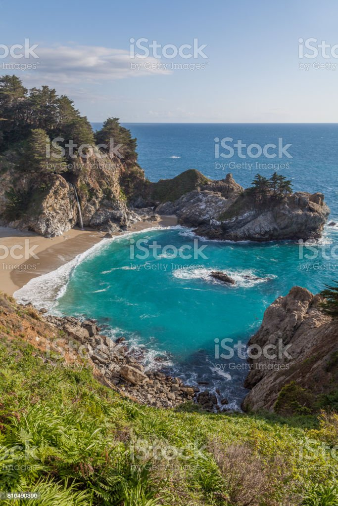 McWay Falls Landscape stock photo