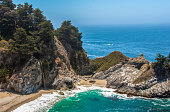 McWay Falls - waterfall on the coast of Big Sur in central California USA
