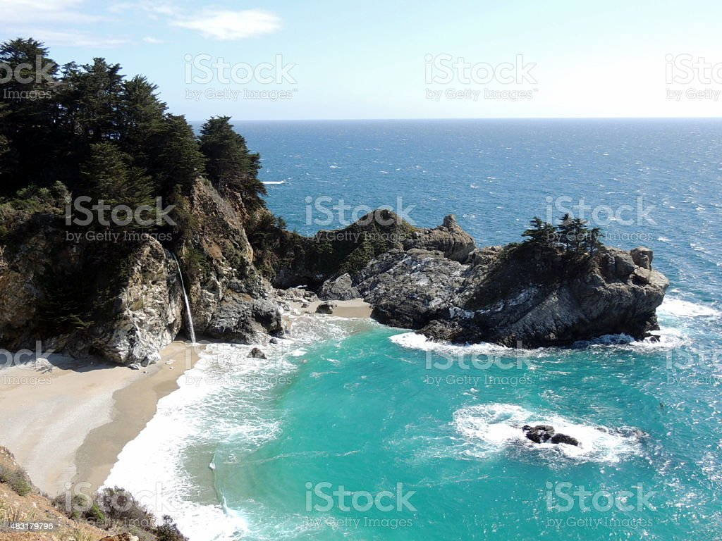 McWay Waterfall Big Sur stock photo