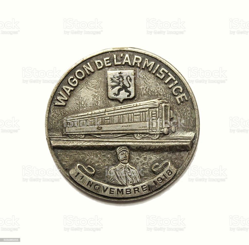 Médaille wagon de l'armistice - first world war stock photo