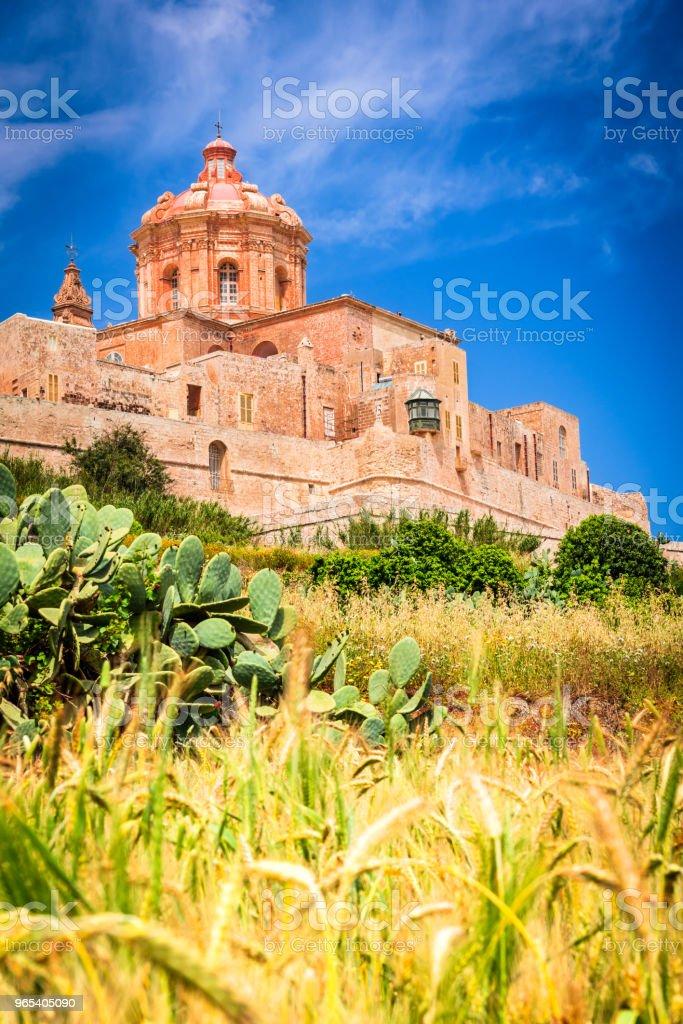 Mdina, fortified city on Malta island royalty-free stock photo