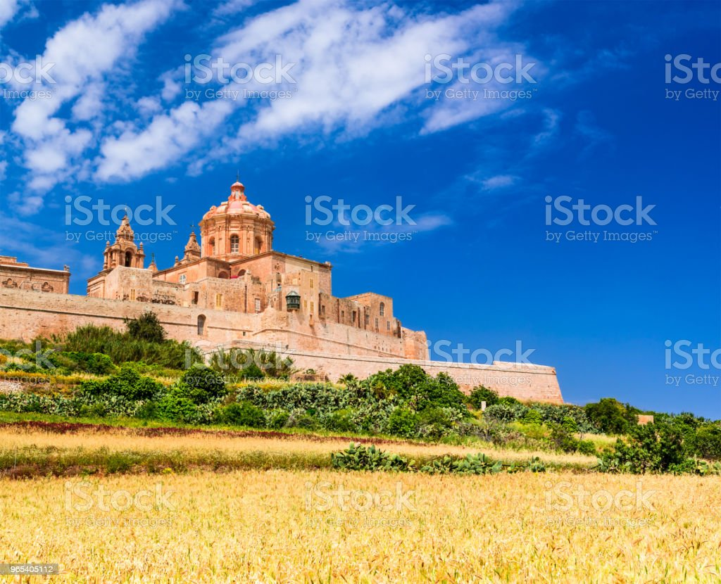 Mdina, befestigte Stadt auf der Insel Malta - Lizenzfrei Alt Stock-Foto
