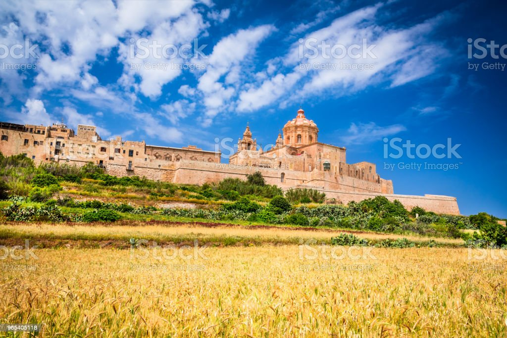 Mdina, fortified city on Malta island royalty-free stock photo