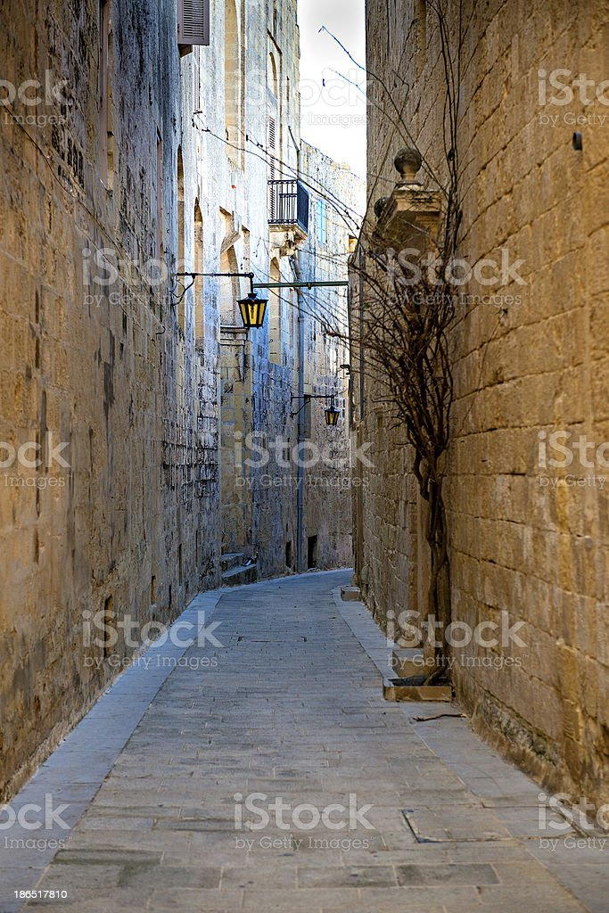 Mdina - silent city of Malta royalty-free stock photo