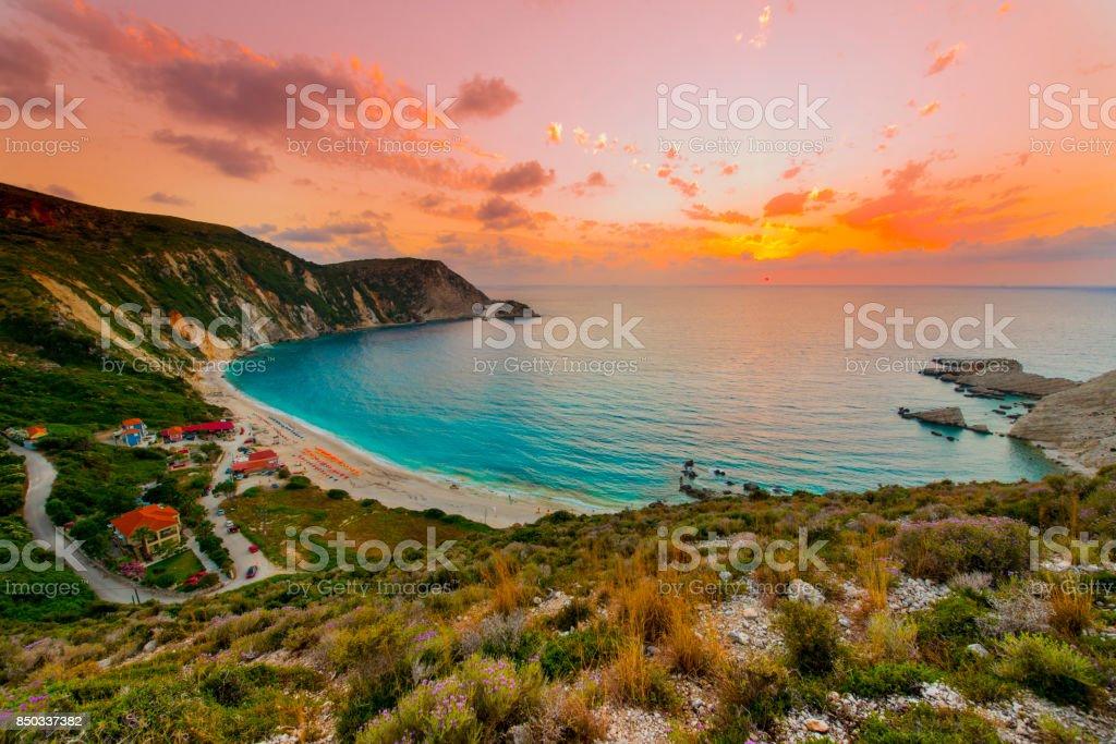 Mditerranean beach stock photo