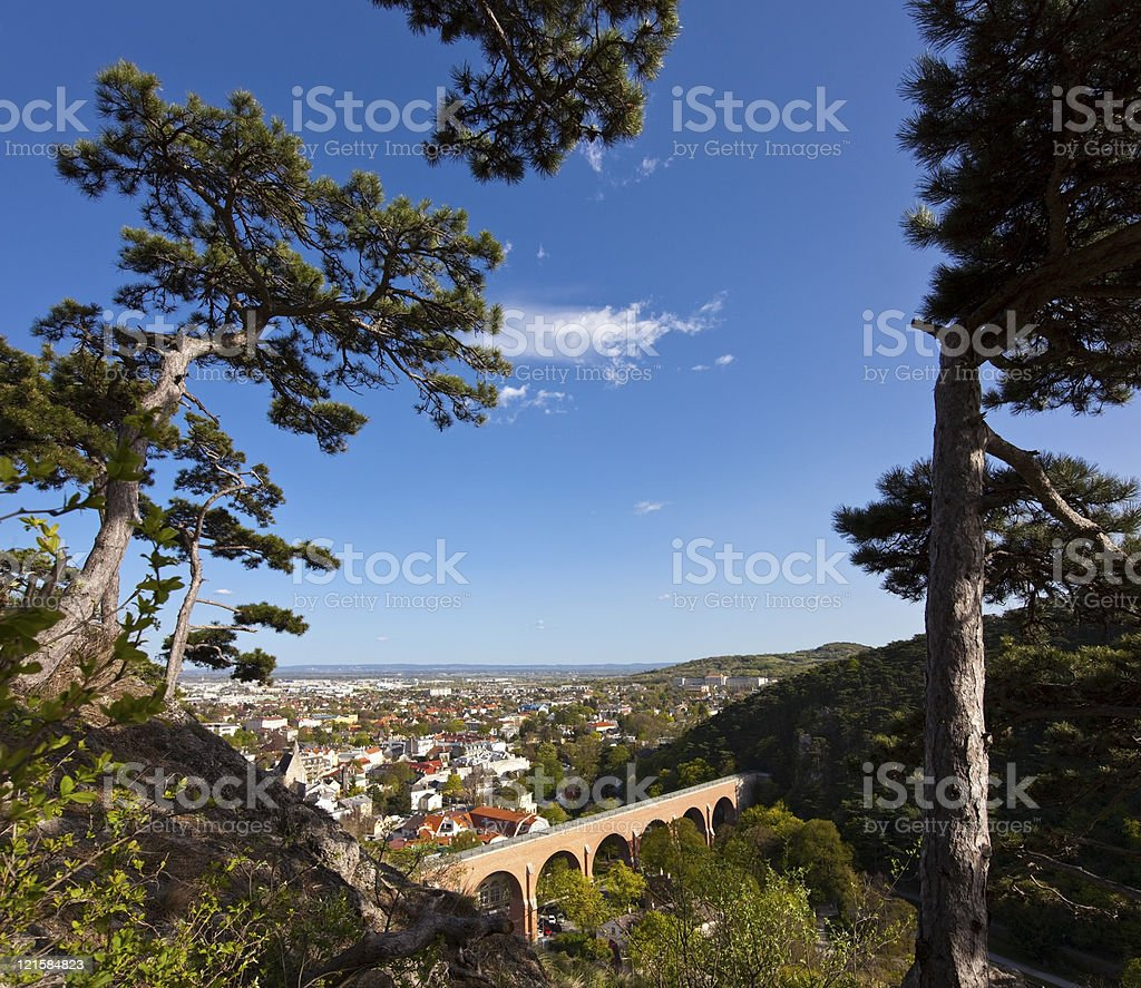 Mödling (Austria) and his famous aqueduct royalty-free stock photo