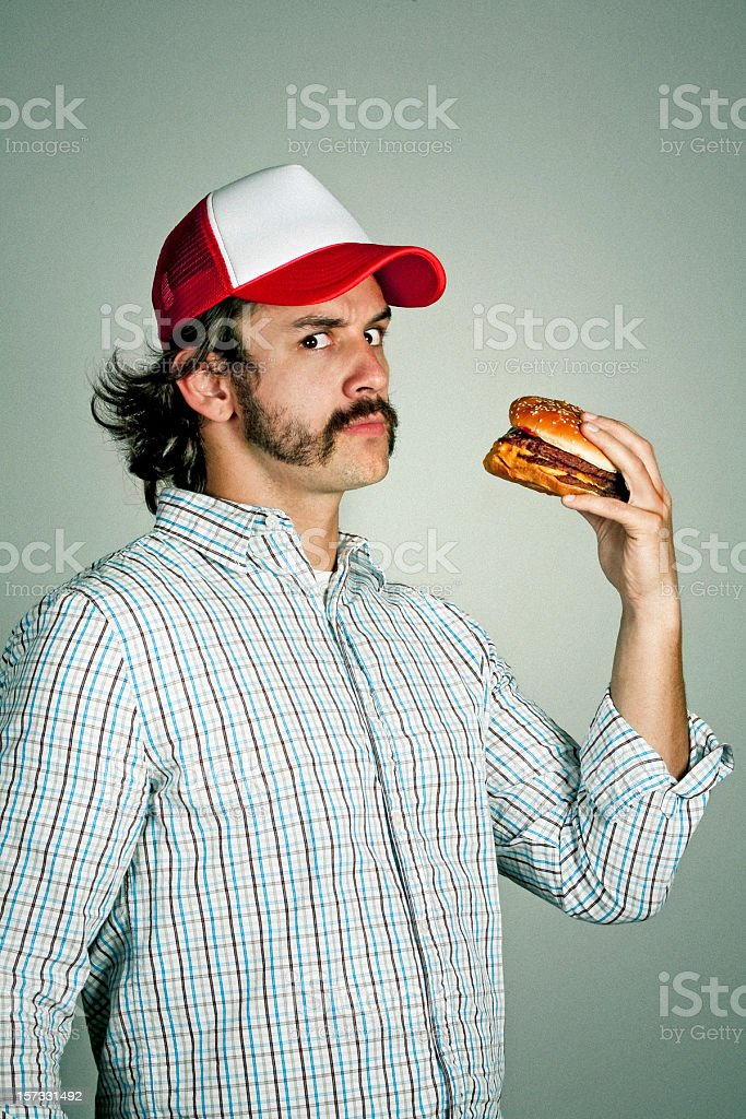 me and my burger stock photo