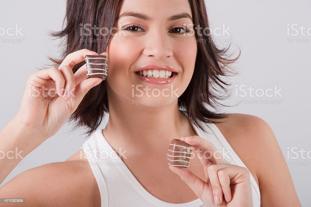 Me And My Chocolate royalty-free stock photo