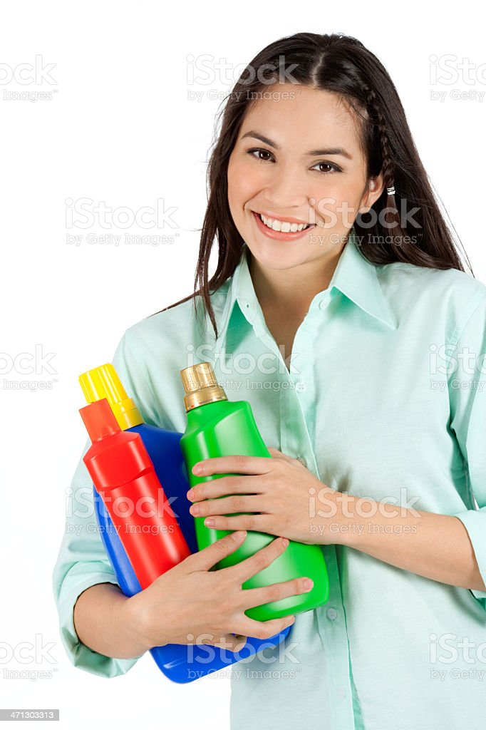 Me And My Detergent Bottles royalty-free stock photo