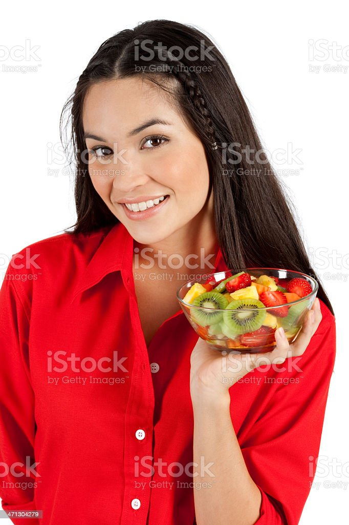 Me And My Fruit Sald royalty-free stock photo