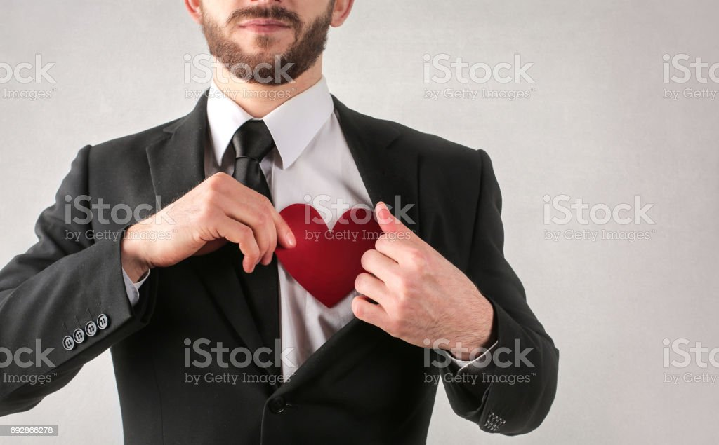 Me and my heart stock photo
