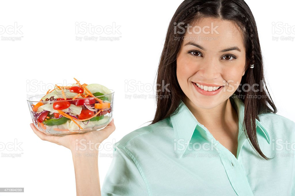 Me And My Vegetable Sald royalty-free stock photo