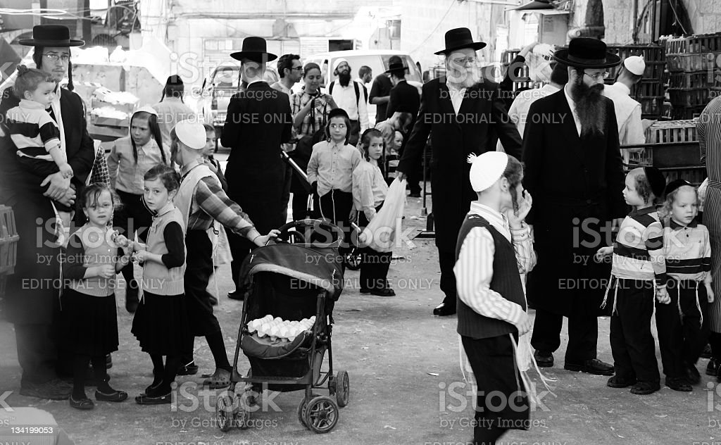Mea Shearim - Jerusalem stock photo