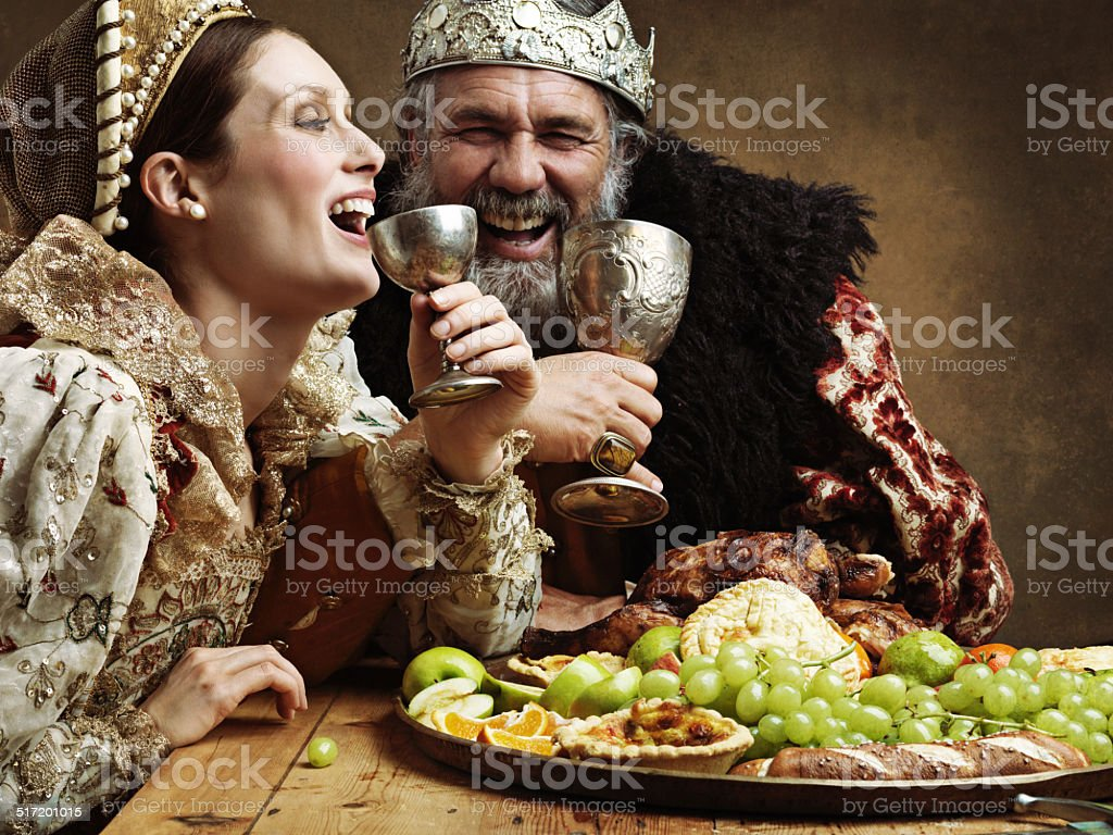 Mead and merriment stock photo