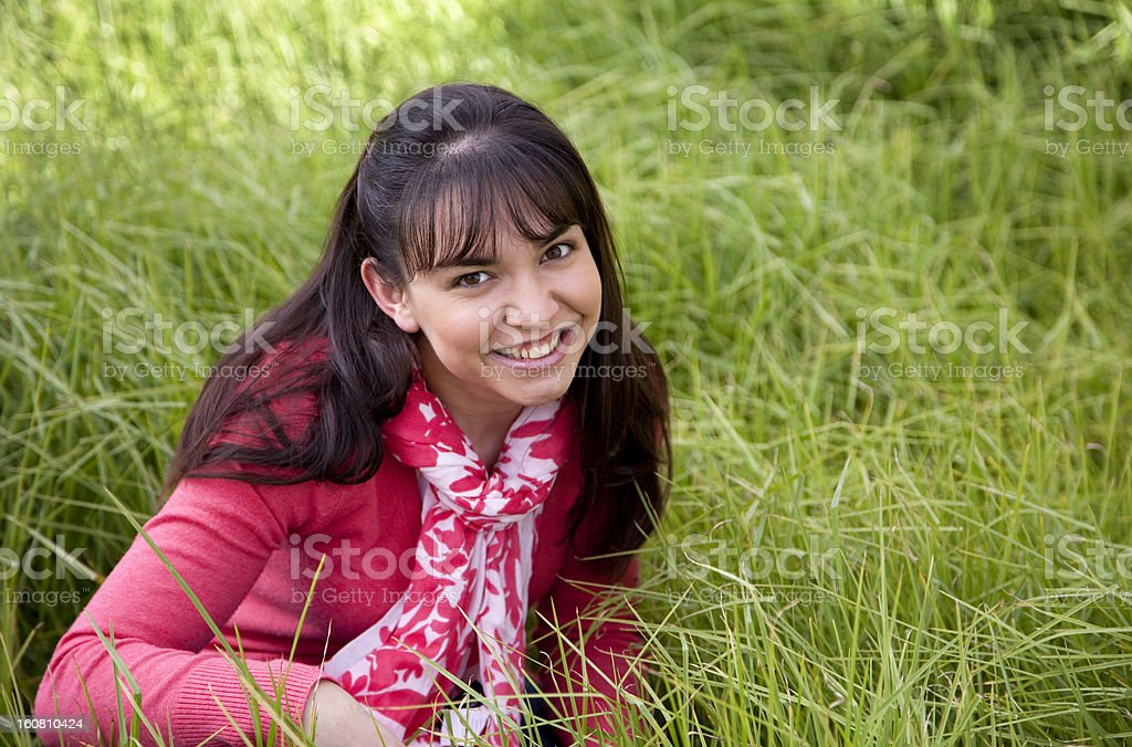 Meadow happiness stock photo