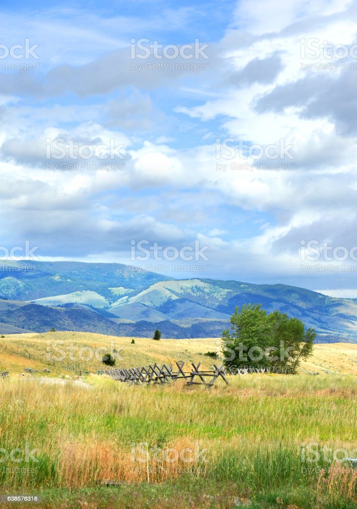 Meadow in Happy Valley stock photo