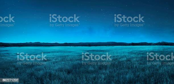 Photo of Meadow landscape at night time