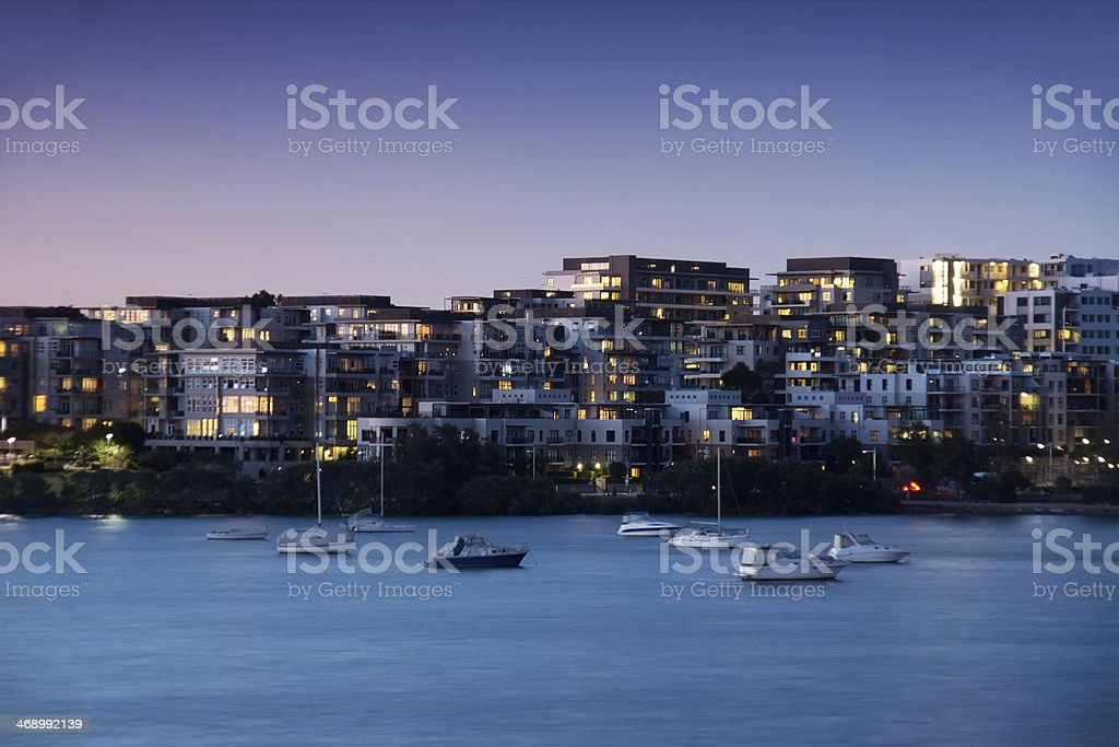 Meadowbank Apartments, Sydney stock photo