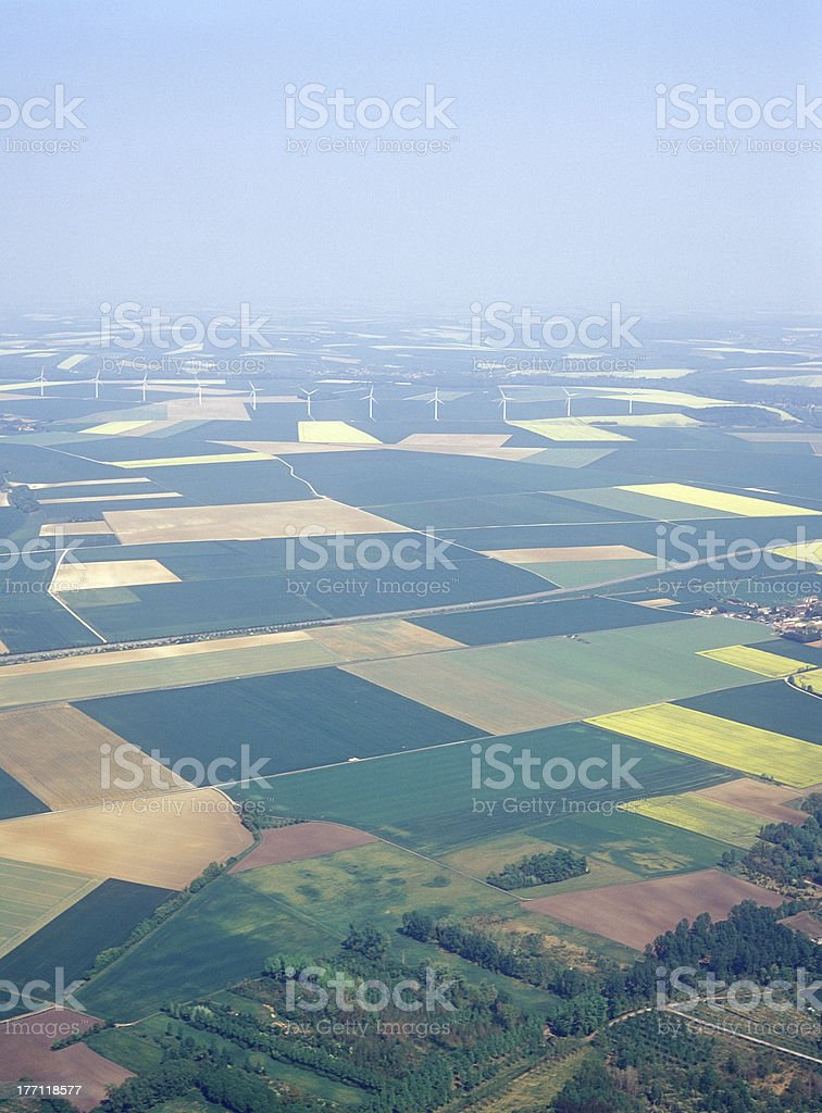 Meadows and fields. Aerial image. royalty-free stock photo