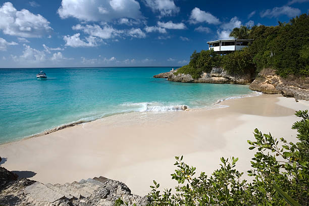 Meads Bay, Anguilla stock photo