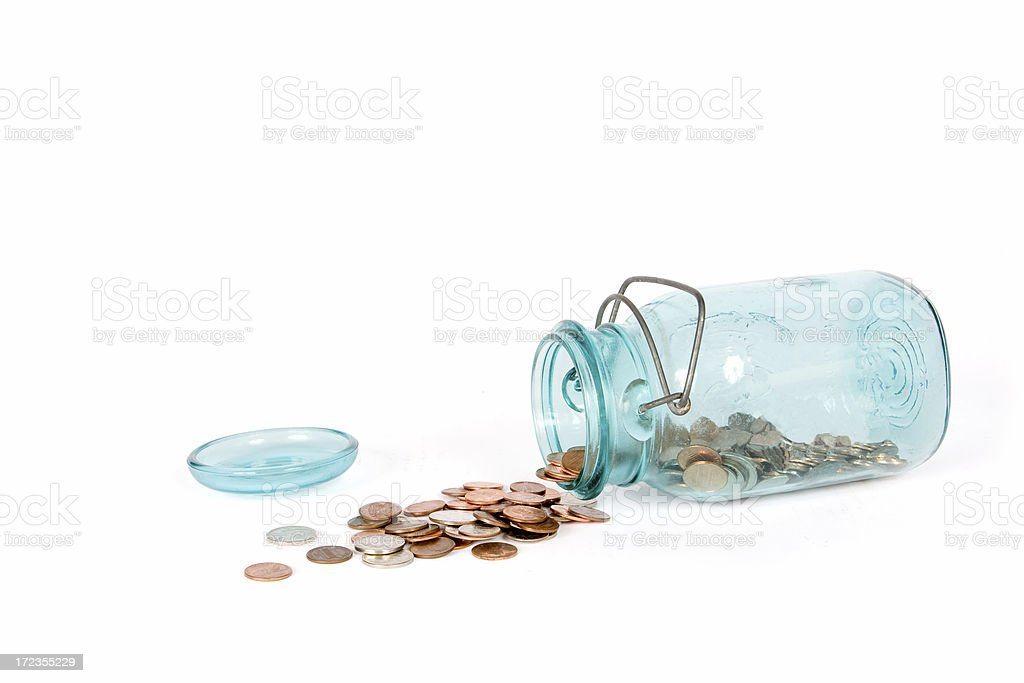 Meager savings royalty-free stock photo
