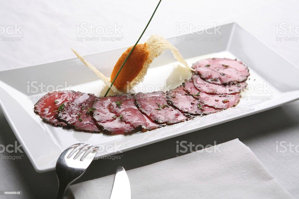 Mahlzeit zu, Butcher shop Snack Lizenzfreies stock-foto