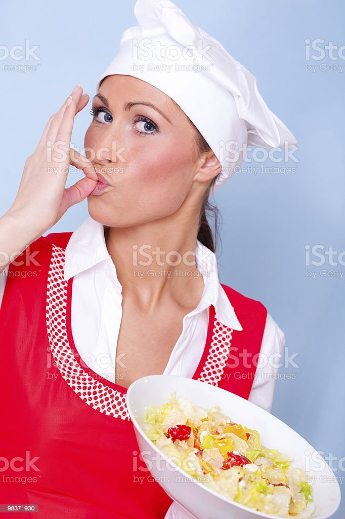 meal cooking woman royalty-free stock photo