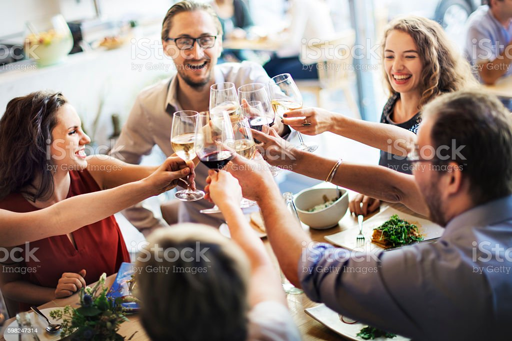 Meal Food Party Celebrate Cafe Restaurant Event Concept stock photo