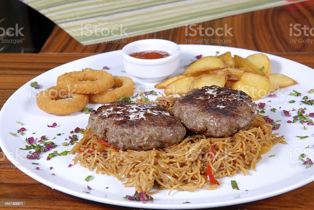 Meal in the restaurant royalty-free stock photo