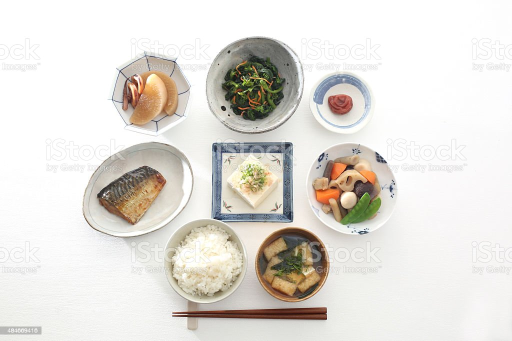 Meal of Japan stock photo