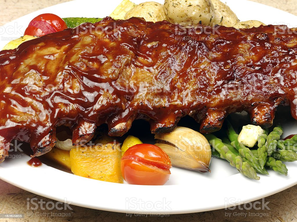 Meal of ribs royalty-free stock photo