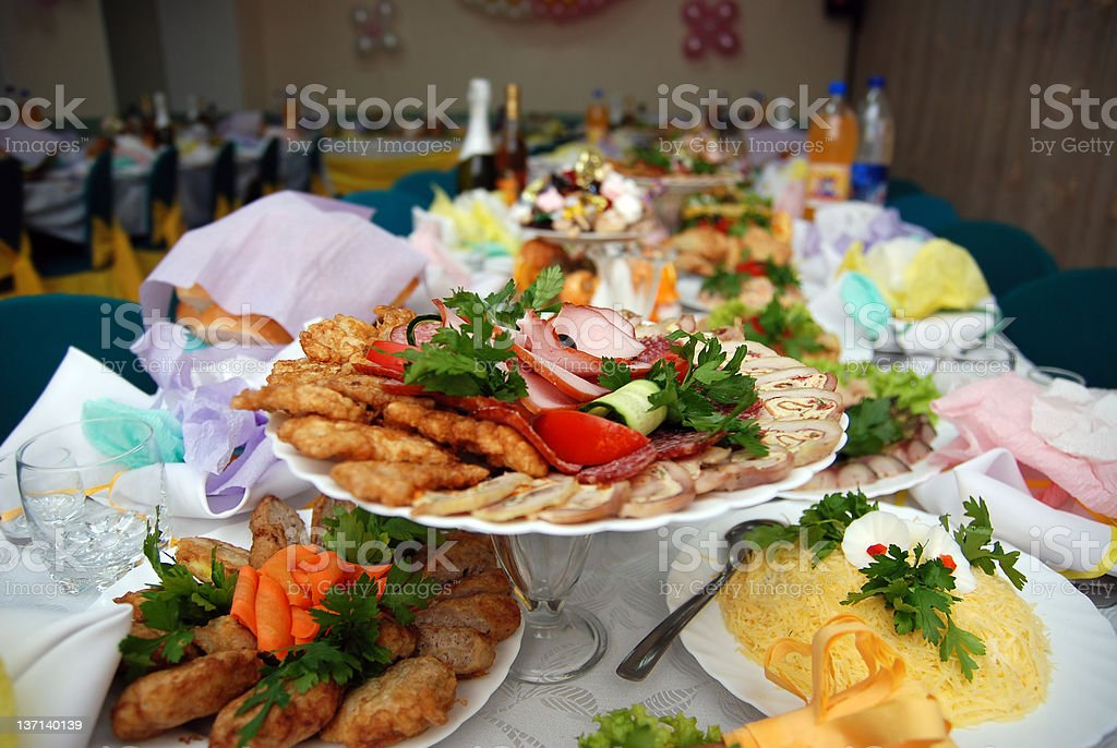 Meal on the served table royalty-free stock photo