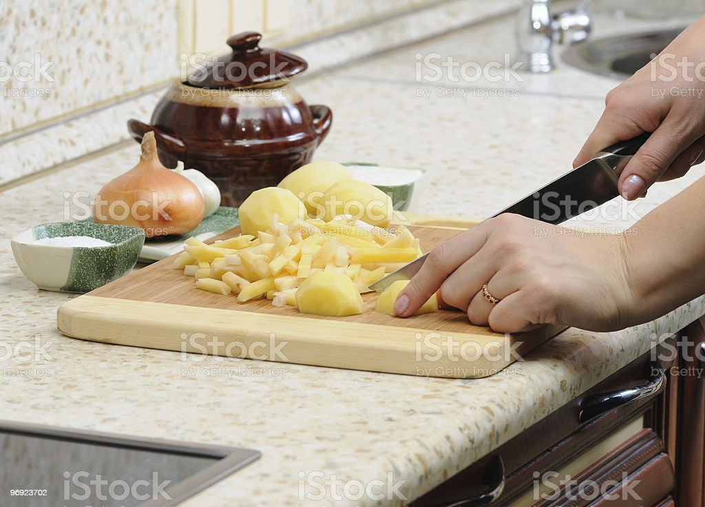 Meal preparation royalty-free stock photo