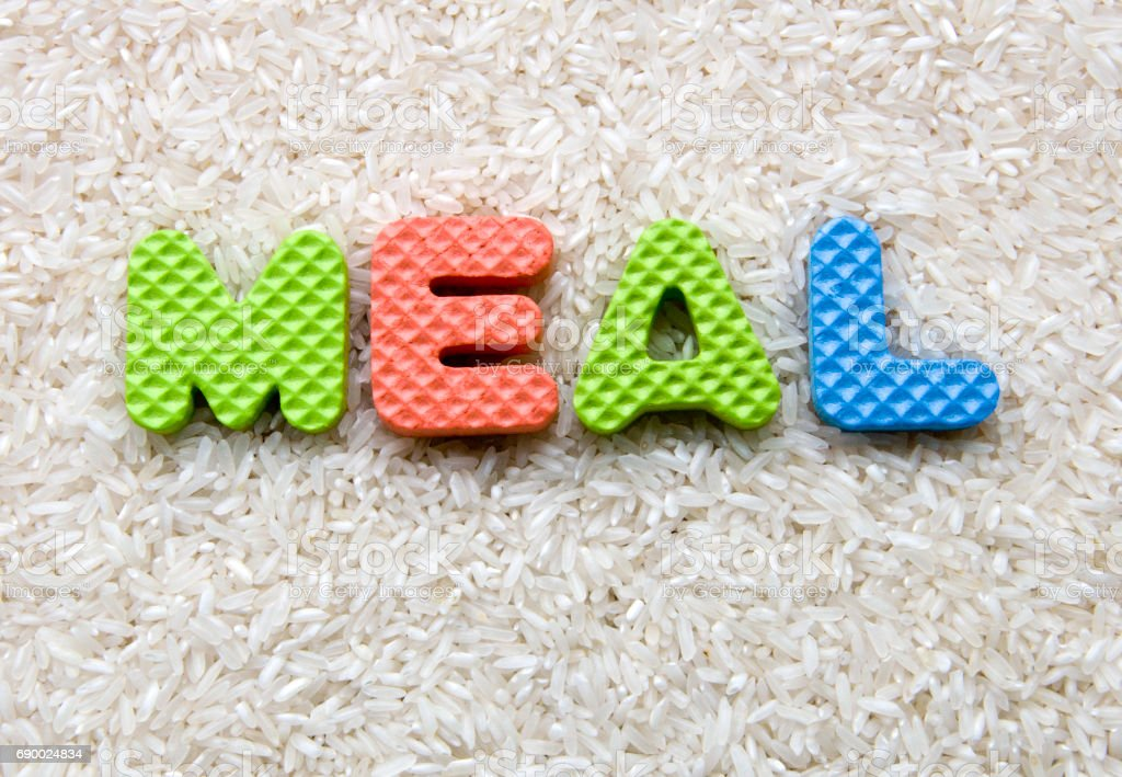 meal sign stock photo