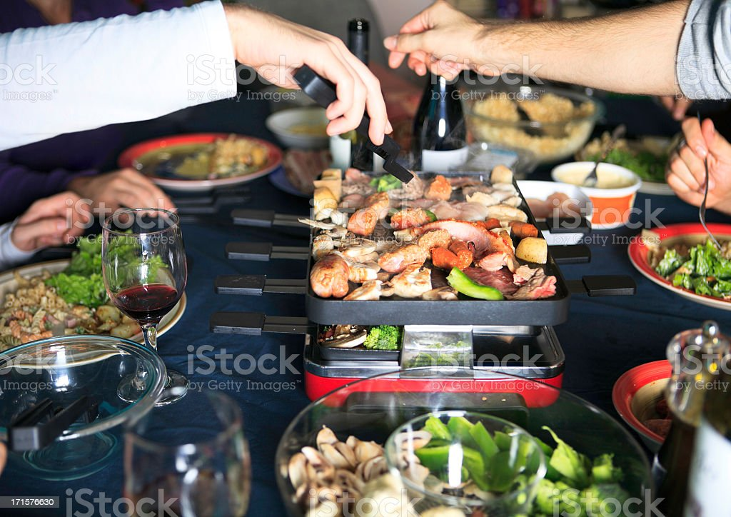 Meal Swiss Raclette stock photo