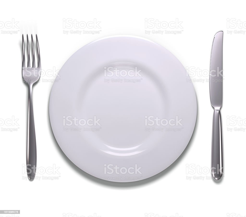 Meal Time Over White royalty-free stock photo