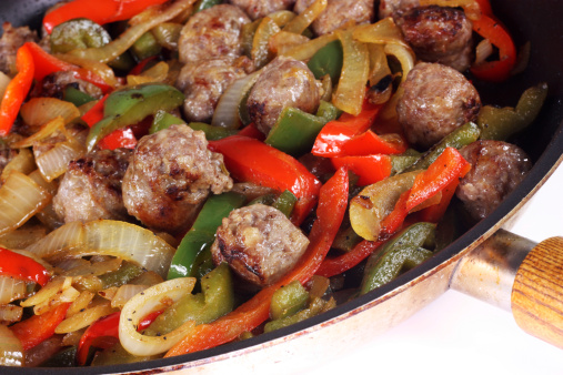 New York style sausage and peppers