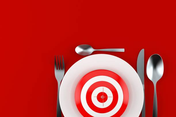 Meal with bull's eye - foto stock