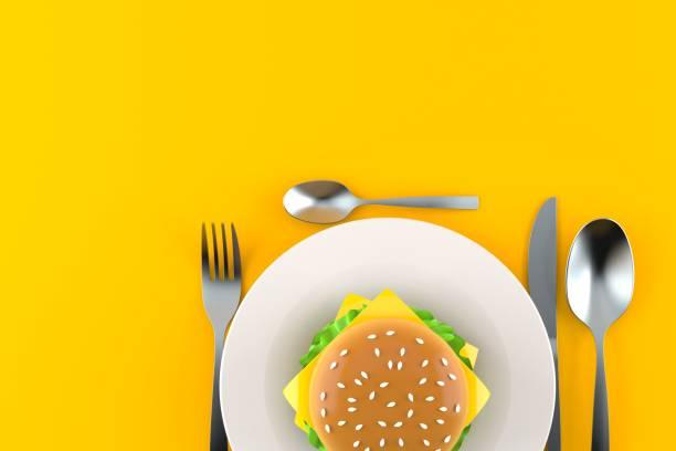 Mahlzeit mit Hamburger – Foto