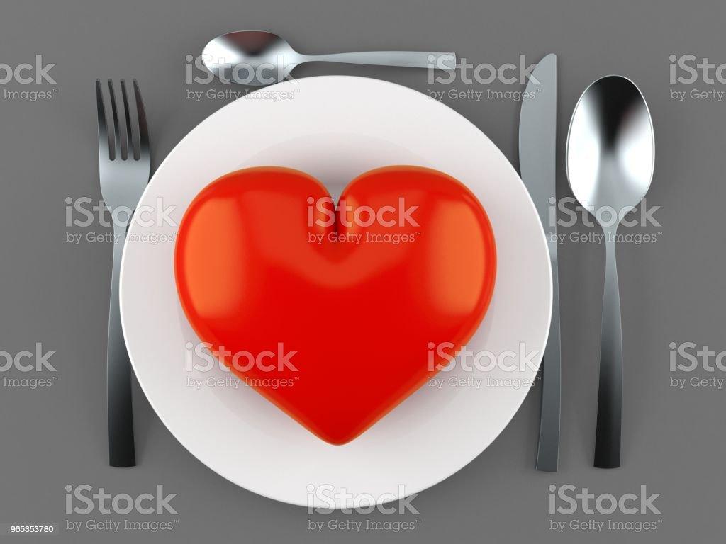 Meal with heart zbiór zdjęć royalty-free