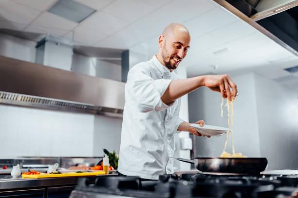 meals made with devotion - chef стоковые фото и изображения