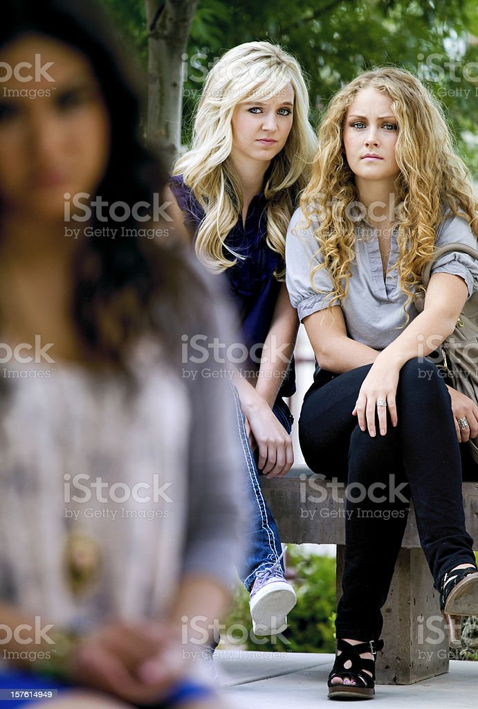 Mean Girls royalty-free stock photo