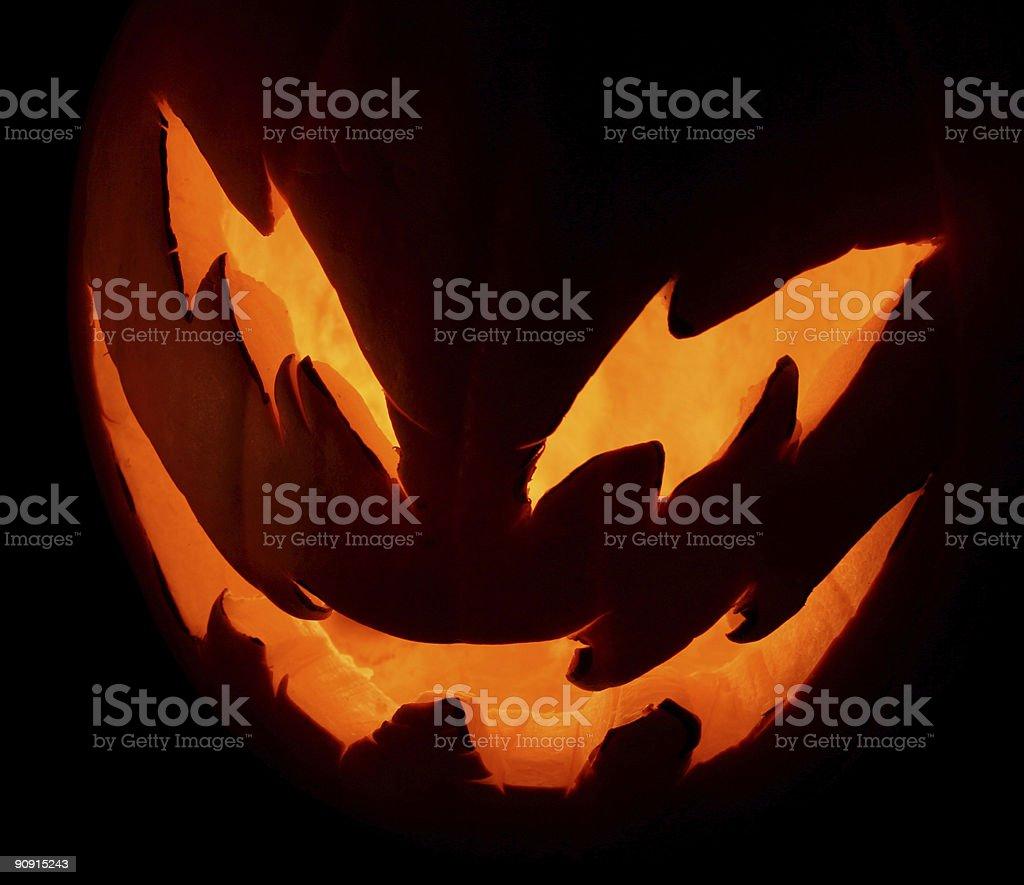Mean Jack-o-Lantern stock photo