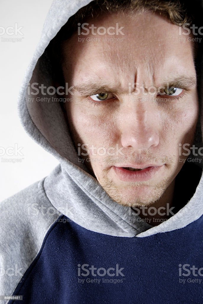 Mean Man royalty-free stock photo